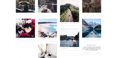 Narrow - A pleasing Tumblr theme