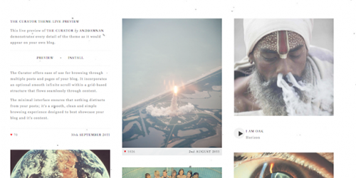 The Curator - Free Clean Tumblr Blog Theme