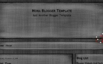 Nona - Dark Blogger Template