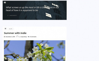 Indie - Free WordPress Blog Theme