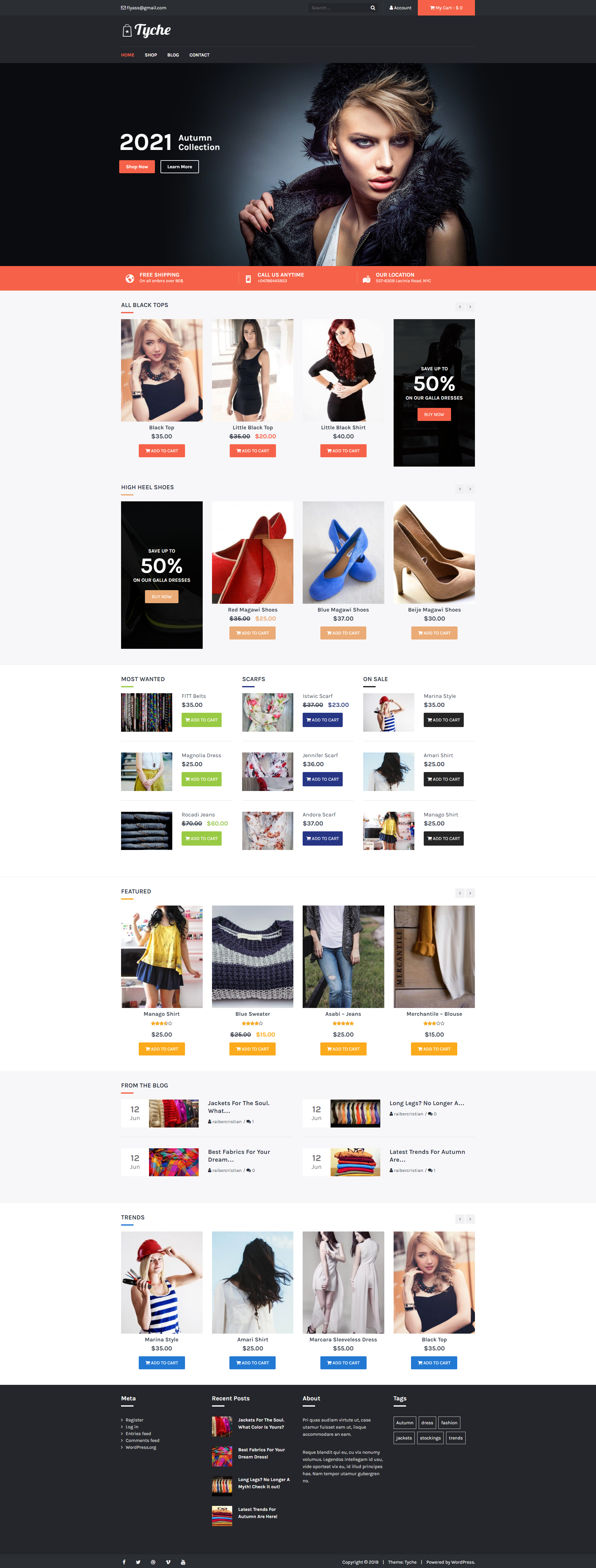 Tyche - Free Attractive & Modern WooCommerce Theme