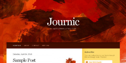 Journic - Art Blog Blogger Template