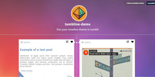 Tumbline - Free Elegant Tumblr Blog Theme