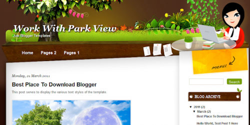 Park View - Nature Theme Blogger Template