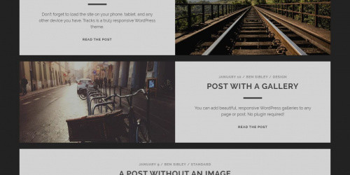 Tracks - Free Beautiful WordPress Blog Theme