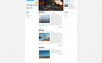 NewsMagazine - Three Column Blogger Template