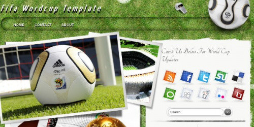 Fifa World Cup - Soccer Blogger Template