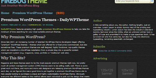 Firebug - Simple Dark Blogger Template