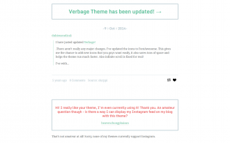 Verbage - Writing theme for Tumblr