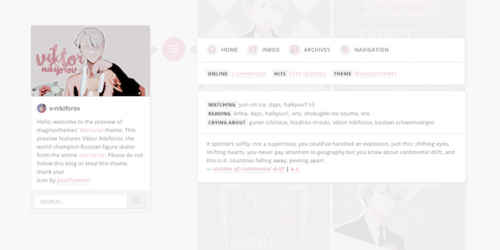 Mercurial - Free Timeline-Styled Tumblr Blog theme