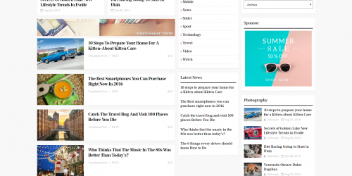 Mercury Responsive Blogger Template