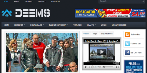 Deems - Magazine Blogger Template