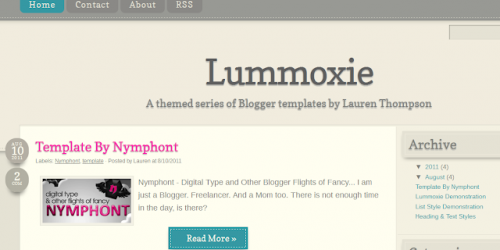 Lummoxie - Fluid Blogger Template