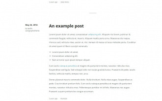 Apollo - Free Simple Tumblr Blog Theme