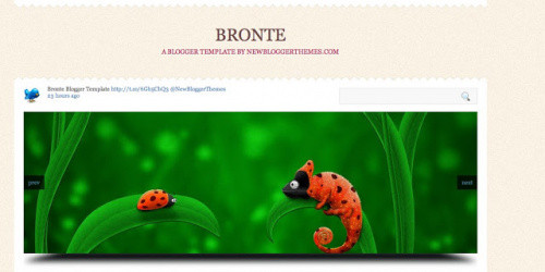 Bronte - Two Column Blogger Template