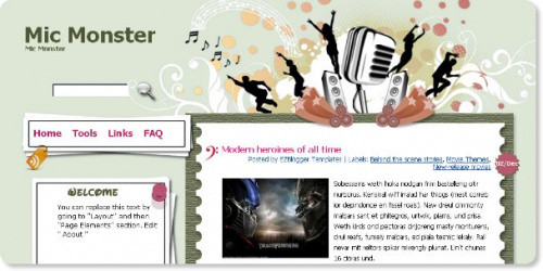 Mic Monster - Music Blogger Template