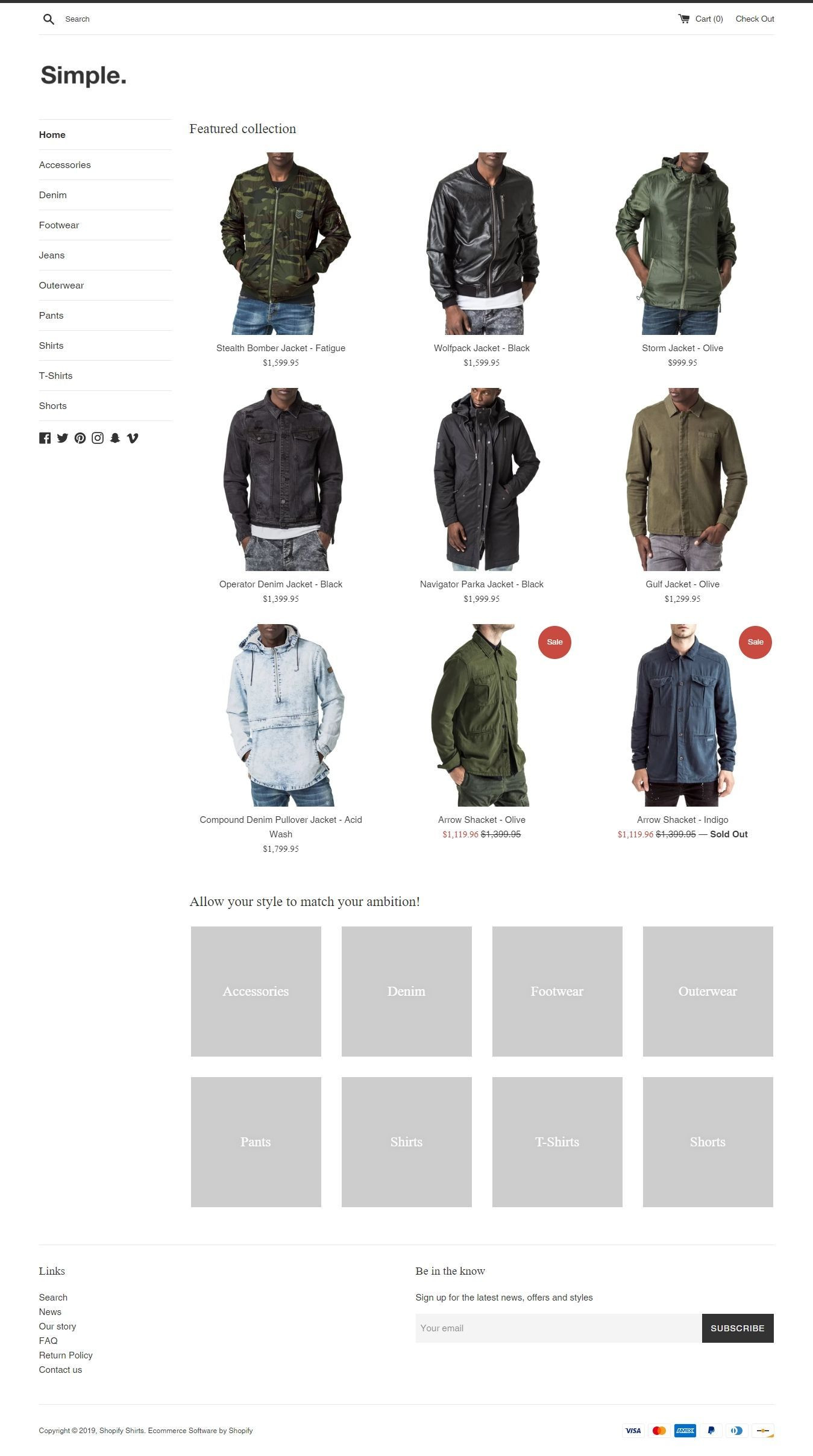 Simple - Free Clean & Minimal Shopify Theme