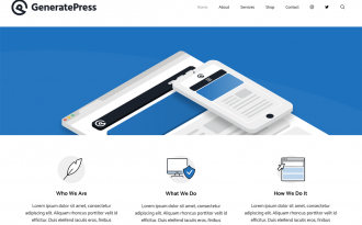 GeneratePress - Free Responsive and Multipurpose WordPress Theme
