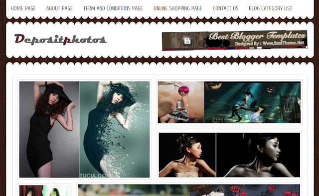 Deposit Photos - Gallery Blogger Template