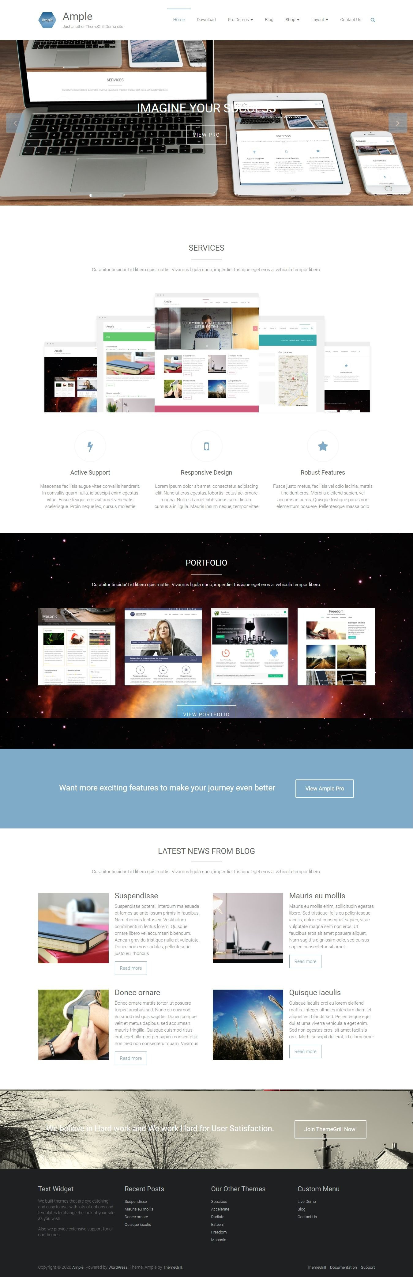 Ample - Free Multipurpose WordPress Theme