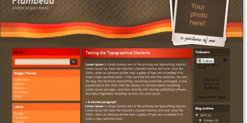 Flambeau - Retro Blogger Template
