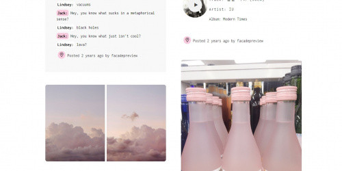 Facade - Free Clean Tumblr Blog theme
