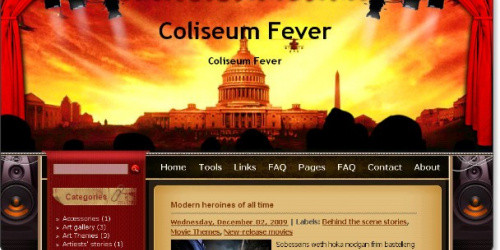 Coliseum Fever - Cinema Blogger Template