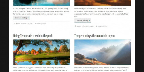 Tempera - Free Elegant WordPress Blog Theme