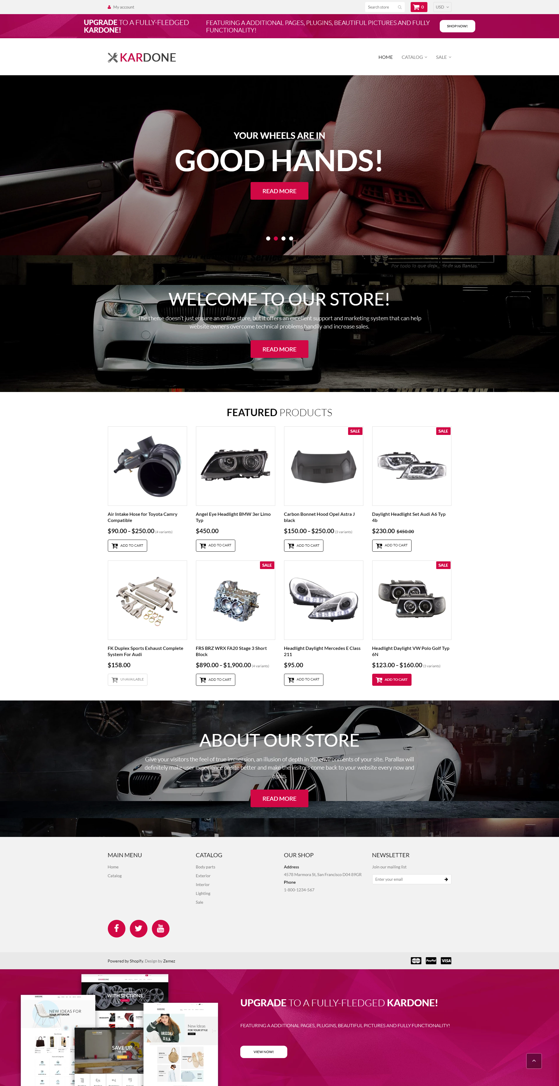 Kardone - Free Car Parts & Elegant Shopify Theme