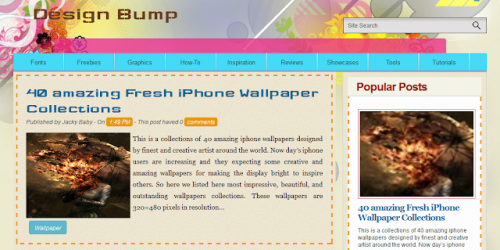Design Bump Style Blogger Template