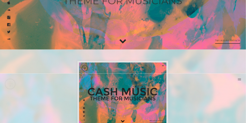 Cash Music - Tumblr Theme for musicians