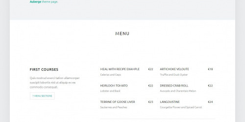 Auberge - Free Elegant WordPress Restaurant Theme