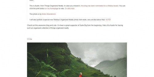 Quite Big - Free Minimal Tumblr Blog Theme