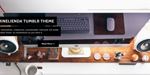 Minelienda - Free Highly Elegant & Modern Tumblr Theme