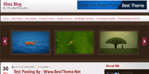 Rhea - Brown Magazine Blogger Template