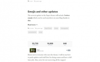 PAPER - Free Tumblr Blog Theme for Writers