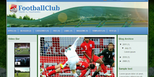 Football Club - Sports Theme Blogger Template