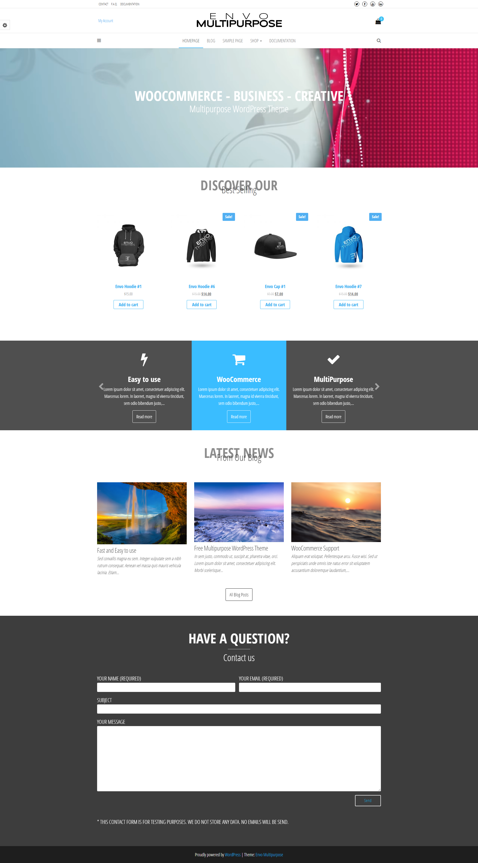 Envo Multipurpose - Free Clean & Modern WooCommerce Theme