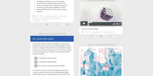 Excelle - Free Modern Tumblr Blog Theme