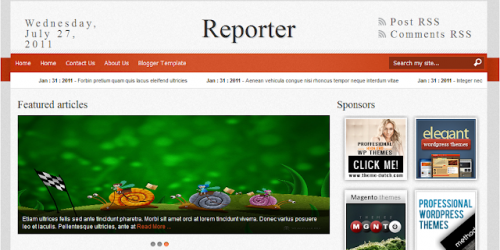 Reporter - News Style Blogger Template