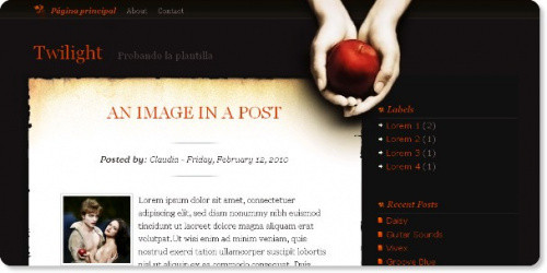 Twilight - Movie Blogger Template
