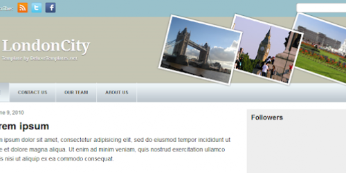 London City - Blogger Template