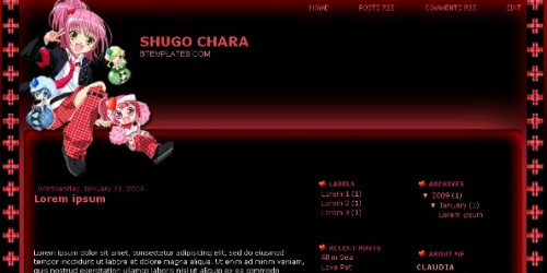 Shugo Chara - Anime Blogger Template