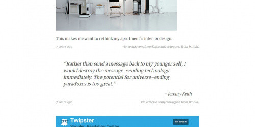 Ashley - Free Minimal & Modern Tumblr Blog Theme
