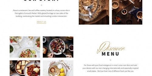 Rosa Lite - Free Elegant Restaurant WordPress Theme