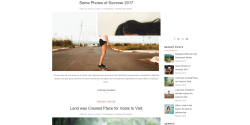 Blogger Buzz - Simple And Clean Free WordPress Blog Theme
