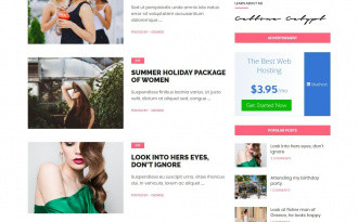 Cream Blog - Free WordPress Blog Theme