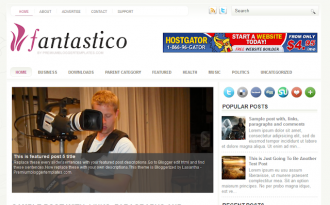 Fantastico - Simple Magazine Blogger Template