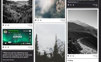 One Two Three - Free Modern Tumblr Grid Theme