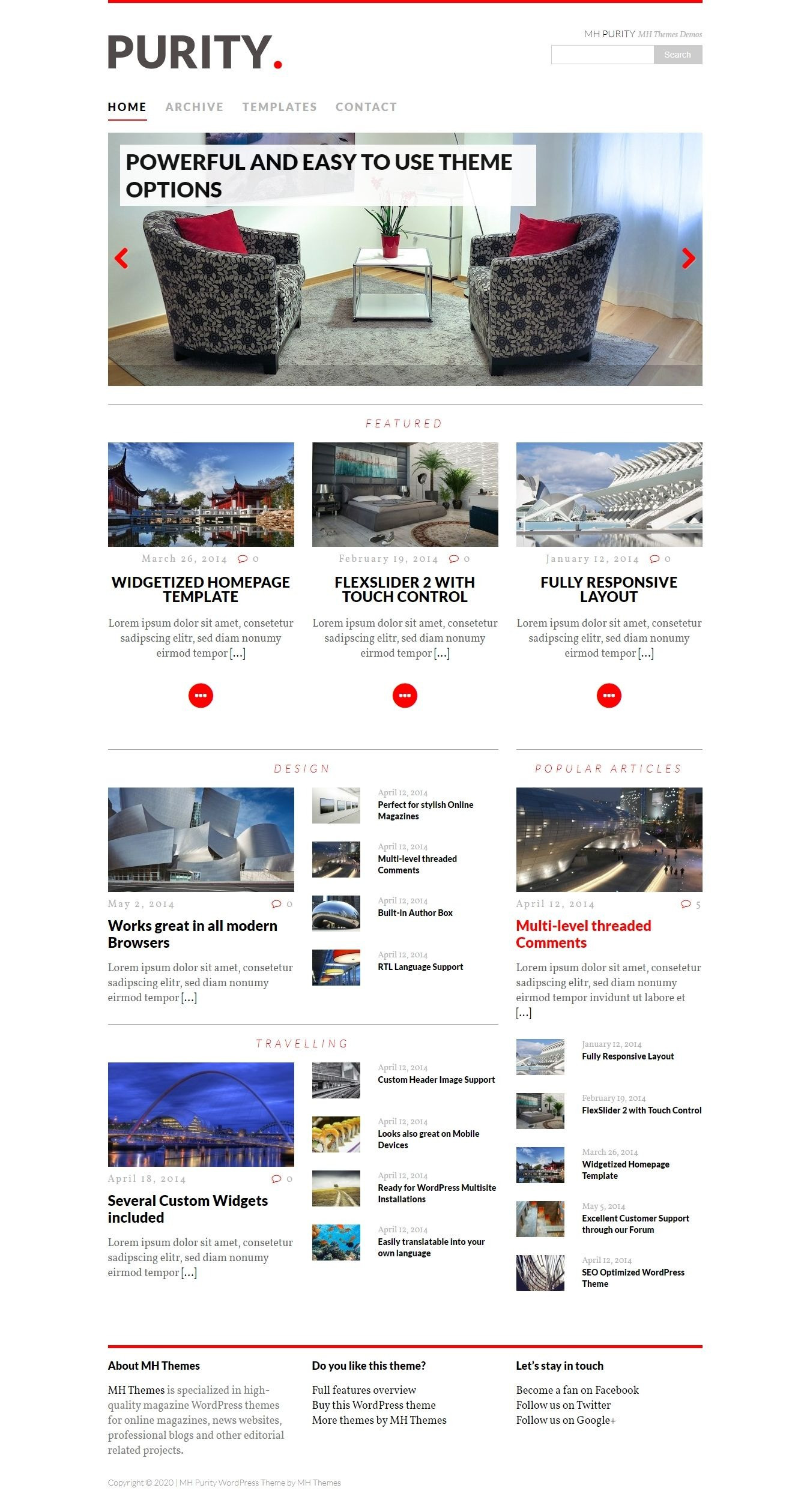 MH Purity Lite - Free WordPress Magazine Theme
